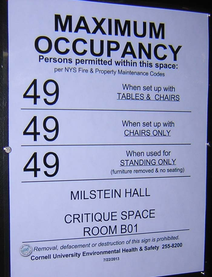Occupancy Load Sign Template